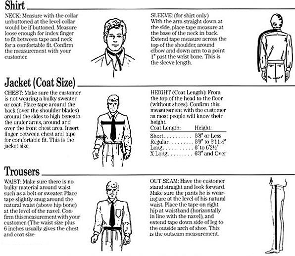 How to measure for a tuxedo.